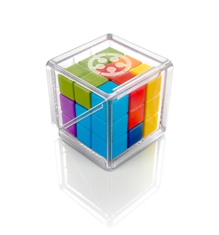 Cube Puzzler Go, a 3D packing problem with cube shaped puzzle pieces.